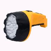 Фонарь ручной аккумуляторный MLA 04 15LED 200Lm 6ч 3 режима, з/у 230В ЧЕРНО-ЖЁЛТЫЙ IN HOME, Фонари светодиодные