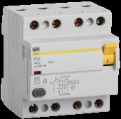 Устройство защитного отключения ВД1-63 4Р 50А 300мА IEK, Устройства защитного отключения