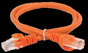 ITK Коммутационный шнур (патч-корд), кат.5Е UTP, 0,5м, оранжевый, кабель витая пара