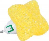 Ночник светодиодный NLA 10-SY ЗВЕЗДА жёлтая с выключателем 230В IN HOME, Ночники светодиодные