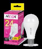 Лампа светодиодная LED-A65 24Вт 230В Е27 3000К 1920Лм NEOX, Лампы LED-A