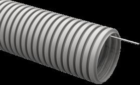 Труба IEK гофрированная ПВХ 20 с зондом, Труба гофрированная ПВХ