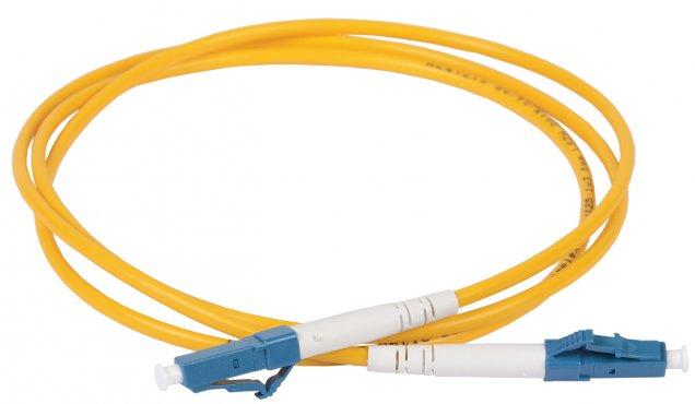 ITK Оптический шнур (патч-корд), SM, 9/125 (OS2), LC/UPC-LC/UPC,(simplex),1м, кабель витая пара