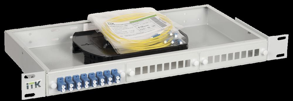 ITK 1U кросс укомплектованный: SC (Simplex) 8шт; (OS2), кабель витая пара