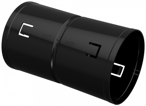 Муфта соединительная для двустенной трубы d=110мм IEK, Муфты кабельные