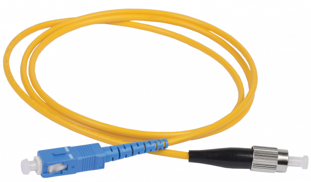 ITK Оптический шнур (патч-корд), SM, 9/125 (OS2), SC/UPC-FC/UPC,(simplex),1м, кабель витая пара