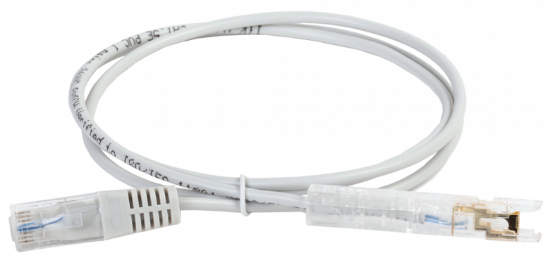 ITK Коммутационный шнур (патч-корд) 110-RJ45 1 пара, кат.5Е, 3м, серый, коммутационный шнур