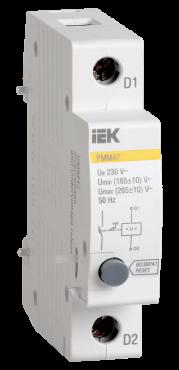 Расцепитель минимального и максимального напряжения РММ-47 новая серия на DIN-рейку IEK, Дополнительные устройства модульной серии