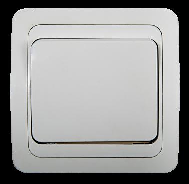 Выключатель одноклавишный CLASSICO белый 2021 IN HOME, Выключатели встраиваемые