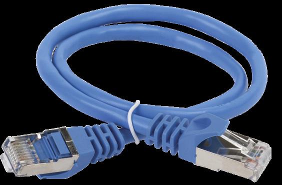 ITK Коммутационный шнур (патч-корд), кат.5Е FTP, 5м, синий, кабель витая пара
