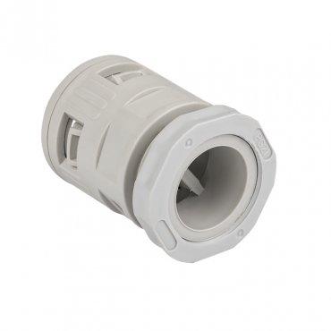Коннектор для гофрированной трубы (25мм.) (25шт.) Plast EKFPROxima, Повороты, соединители, муфты