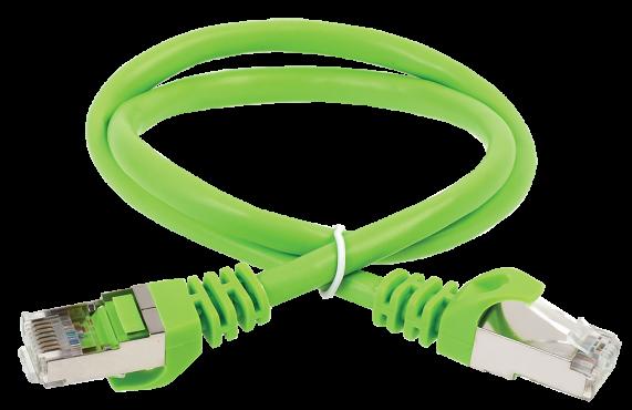 ITK Коммутационный шнур кат. 6А S/FTP LSZH 2м зеленый, коммутационный шнур