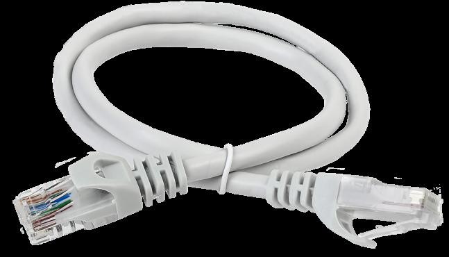 ITK Коммутационный шнур (патч-корд), кат.6 UTP, LSZH, 15м, серый, кабель витая пара