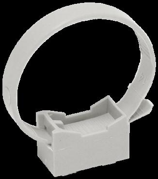 Хомутный держатель со стяжкой CFF2 32-63 мм серый IEK, Крепления для труб