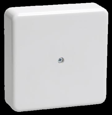 Коробка IEK КМ41219 распределительная для открытой установки 100х100х29 мм белая (6 клемм 6мм2), Коробки распределительные