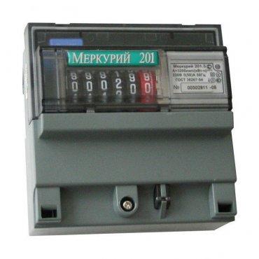 Счетчик Меркурий 201.5 5-60А однофазный однотарифный