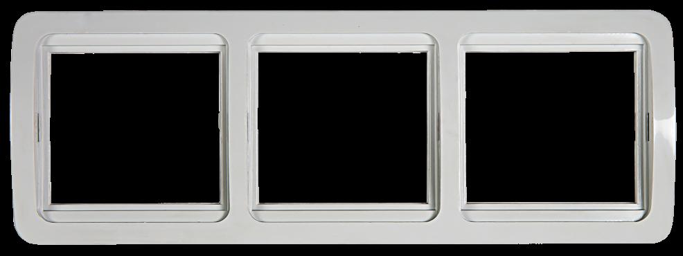 Рамка 3ая горизонтальная CLASSICO белая 2303H IN HOME