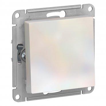 Выключатель одноклавишный AtlasDesign Schneider Electric жемчуг, Выключатели встраиваемые