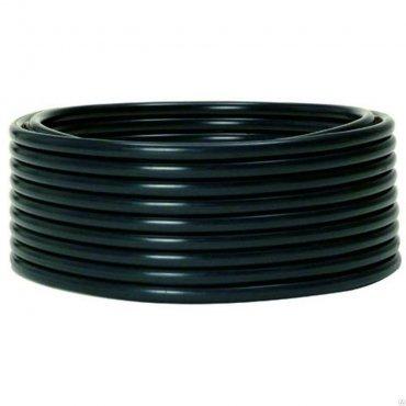 Труба гладкая жесткая ПНД черная d50мм (100м) EKF PROxima, Труба жесткая ПВХ и ПНД