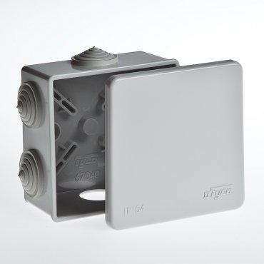 Коробка распределительная для открытой установки 85х85х40 мм, Коробки распределительные