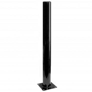Опора стальная черная эмаль 0,6 м для садово-паркового светильника
