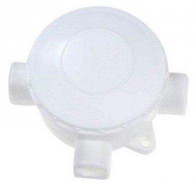 Коробка распределительная для открытой установки 3-х рожковая пластиковая белая, Коробки распределительные