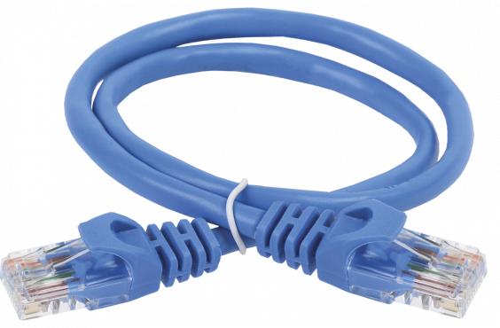 ITK Коммутационный шнур (патч-корд), кат.5Е UTP, 0,5м, синий, коммутационный шнур