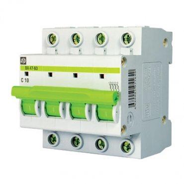 Автоматический выключатель ВА 47-63 4п 25А 4,5кА х-ка С ASD