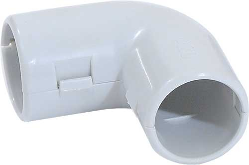 Поворот на 90 гр. 20 мм для труб ПВХ IP40 серый, Повороты, соединители, муфты
