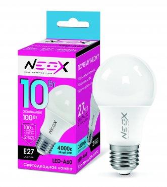 Лампа светодиодная LED-A60 10Вт 230В Е27 4000К 800Лм NEOX