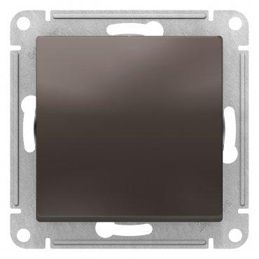 Переключатель одноклавишный AtlasDesign Schneider Electric мокко, Выключатели встраиваемые