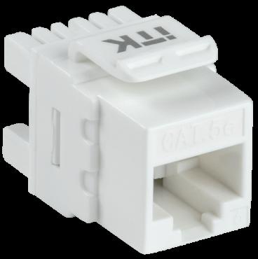 ITK Модуль Keystone Jack кат.5E UTP 110 IDC 180 град., кабель витая пара