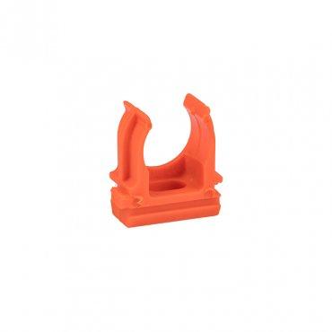 Крепеж-клипса оранжевая d16мм (10шт.) Plast EKF PROxima, Крепления для труб