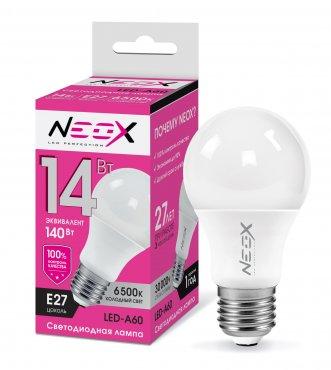 Лампа светодиодная LED-A60 14Вт 230В Е27 6500К 1120Лм NEOX