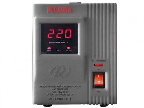 Стабилизатор напряжения однофазный электронный ACH-2000/1-Ц Ресанта, Стабилизаторы однофазные