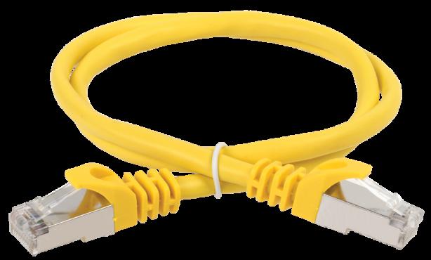 ITK Коммутационный шнур (патч-корд), кат.5Е FTP, 0,5м, желтый, кабель витая пара