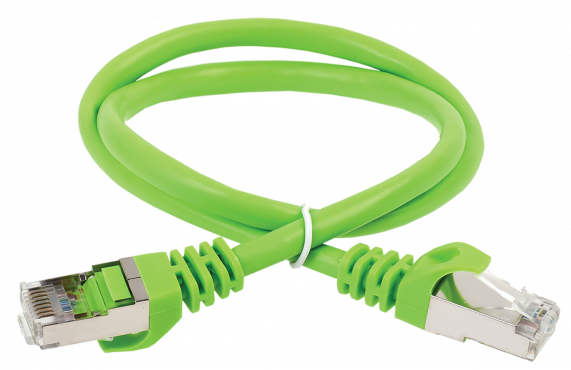 ITK Коммутационный шнур (патч-корд), кат.5Е FTP, 2м, зеленый, коммутационный шнур