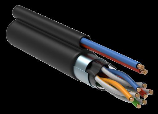 ITK Витая пара F/UTP кат.5E 4х2х24AWG LDPE каб. пит. 2x0,75, кабель витая пара