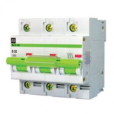 Автоматический выключатель ВА 47-100 3п 50А 10кА х-ка D ASD