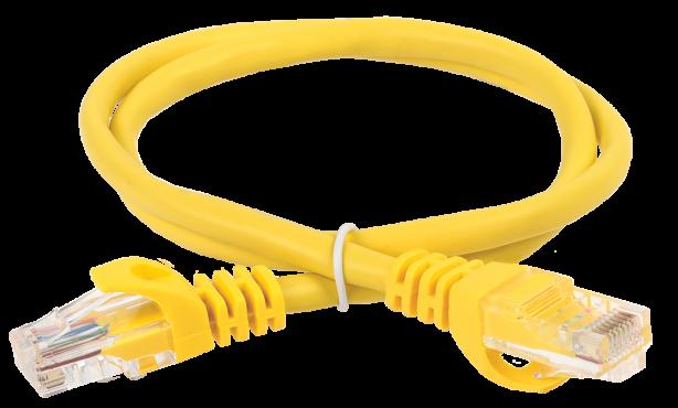 ITK Коммутационный шнур (патч-корд), кат. 5Е UTP LSZH 1м желтый, кабель витая пара