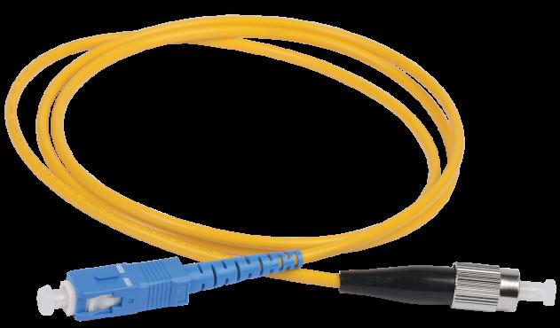 ITK Оптический шнур (патч-корд), SM, 9/125 (OS2), SC/UPC-ST/UPC,(simplex),1м, кабель витая пара
