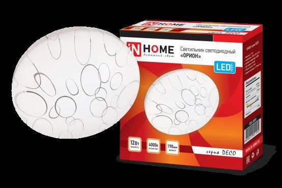 Светильник светодиодный серии DECO 12Вт 230В 4000К 780лм 190х65мм ОРИОН IN HOME, Потолочные светильники