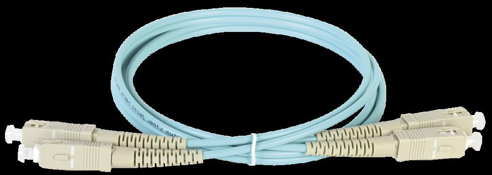 ITK Оптический шнур (патч-корд), MM, 50/125 (OM3), SC/UPC-SC/UPC,(Duplex),2м, кабель витая пара