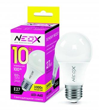 Лампа светодиодная LED-A60 10Вт 230В Е27 3000К 800Лм NEOX