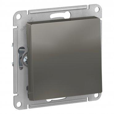 Выключатель одноклавишный AtlasDesign сталь, Выключатели встраиваемые