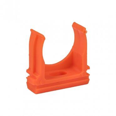 Крепеж-клипса оранжевая d25мм (10шт.) Plast EKF PROxima, Крепления для труб