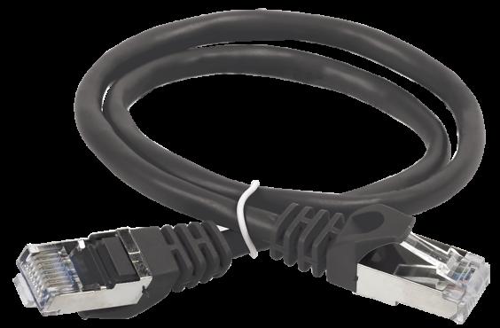 ITK Коммутационный шнур (патч-корд), кат.5Е FTP, 3м, черный, коммутационный шнур