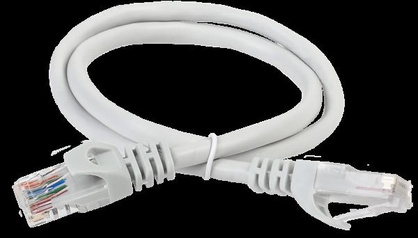 ITK Коммутационный шнур (патч-корд) кат.5Е UTP LSZH 3м серый, кабель витая пара