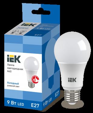 Лампа светодиодная LED-A60 ECO 9Вт 230В 6500К E27 IEK, Лампы LED-A