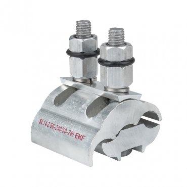 Зажим ответвительный плашечный SL14.2 50-240 мм2 / 50-240 мм2 EKF PROxima, Арматура к проводу СИП